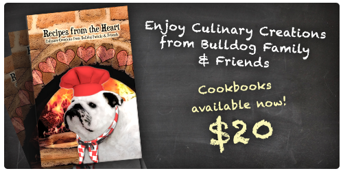 Recipes from the Heart Cookbook - Bulldog Family and Friends