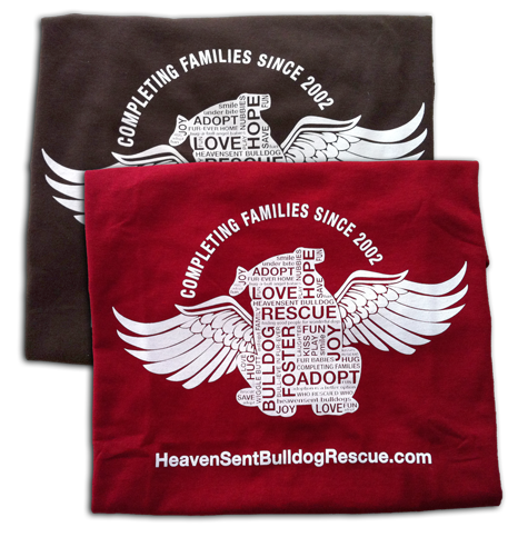 HeavenSent Bulldog Rescue T-shirts